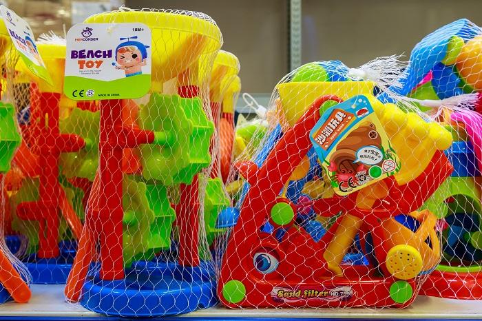 Днткие игрушки для пляжа