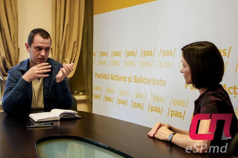 Сергей Паскарь и Майя Санду