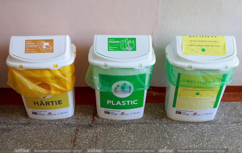 Контейнеры для разного мусора