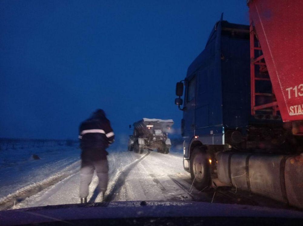 Застрявшие грузовые автомобили