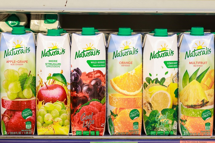 Naturalis сок в тетрапаках