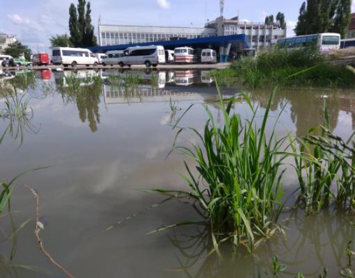 Автовокзал после дождя