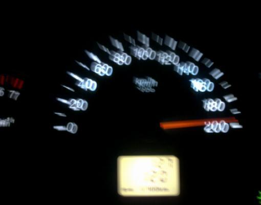 Превышение скорости, спидометр