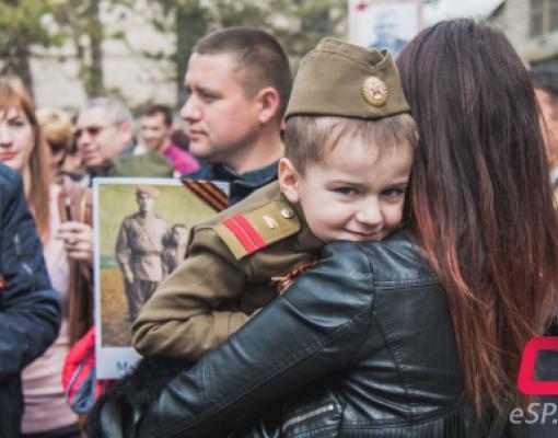 9 мая в Бельцах, День Победы, шествие