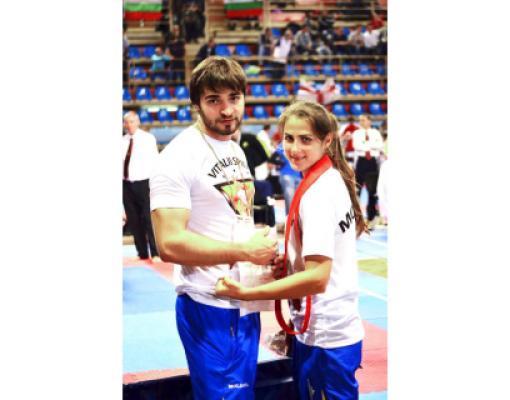 Виталий Спыну и Анастасия Скиба во время чемпионата мира в Сербии.