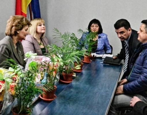 в Бельцах находилась делегация Школьного инспектората румынского уезда Ботошань.
