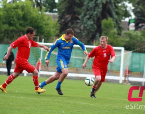 Футбол, Бельцы, Молдова - Украина, матч Ветеранов