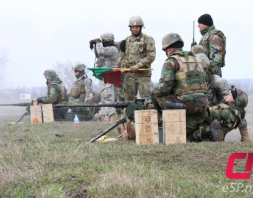 Совместные учения военных США и Молдовы на бельцком полигоне