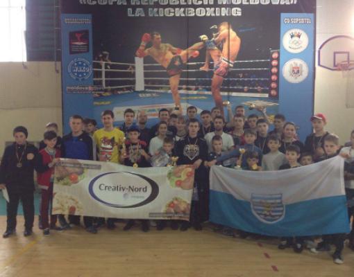 Команда бельчан после выступления на Кубке по кикбоксингу