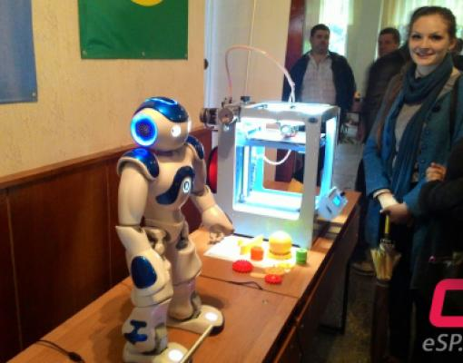 Выставка вакансий в Бельцком Политехническом колледже, робот