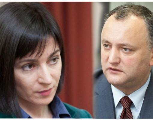 Мая Санду, Игорь Додон