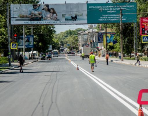 Ремонт дорог в Бельцах, улица Штефан чел Маре