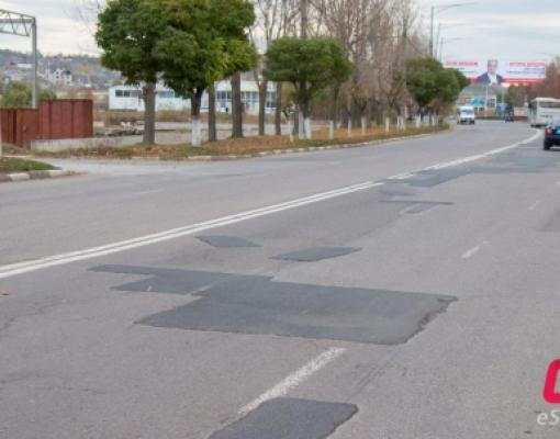Ямочный ремонт дорог. Ул. Ивана Франко, Бельцы