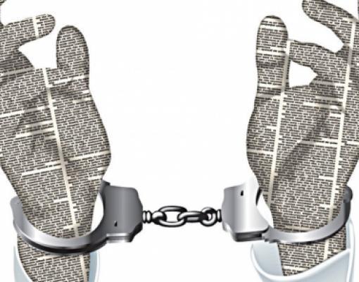 газета, свобода слова, наручники