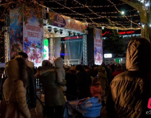 Открытие новогодней ёлки в Бельцах