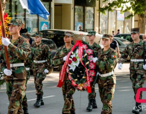 День памяти жертв фашизма в Бельцах, шествие, возложение