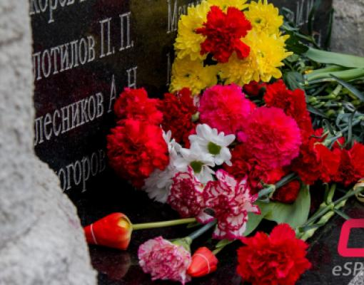 Возложение цветов к памятнику воинам-освободителей