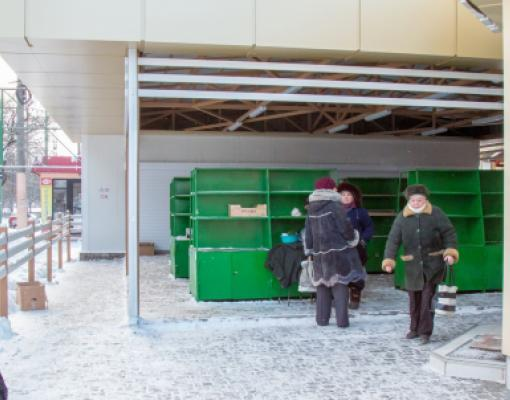 Рынок на 8-м квартале в Бельцах