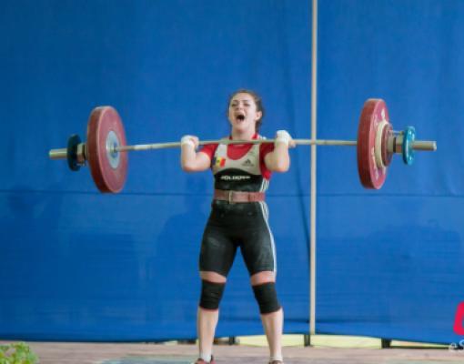 Екатерина Грабуча покоряет очередной чемпионский вес. Тяжёлая атлетика