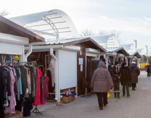 Рынок в Бельцах на ул. Пушкина
