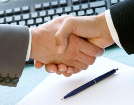 рукопожатие, договор