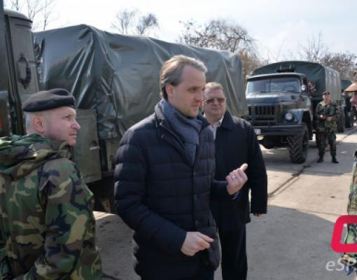 Министр обороны Республики Молдова Еуджен Стурза