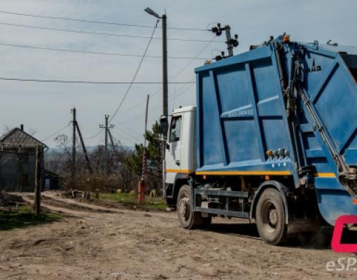 мусоровоз ДРСУ, вывоз мусора в Бельцах