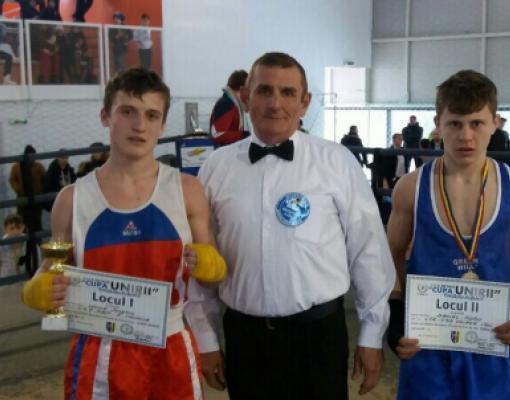 Николай Бунеску (в красной форме) — победитель турнира в Яссах.