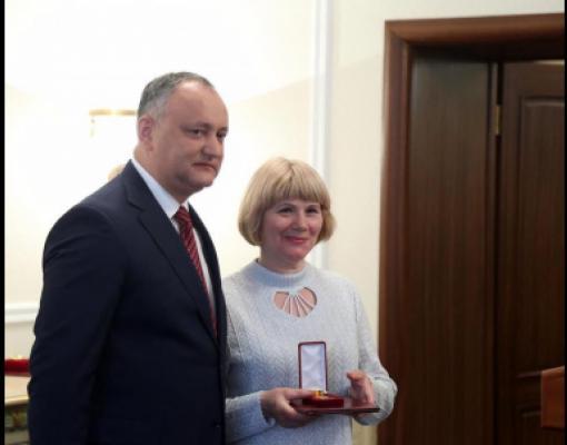 Игорь Додон и Вера Остафичук
