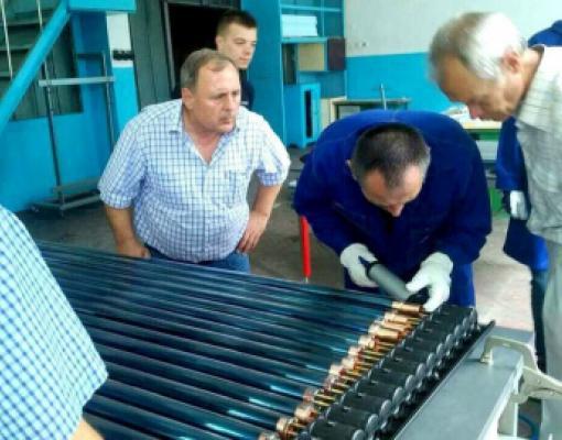 производство солнечных коллекторов на заводе «Рэут»