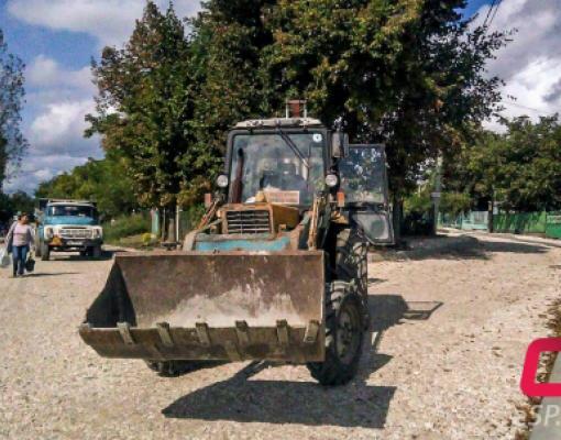 ремонт дороги по ул. Карачобану в Бельцах