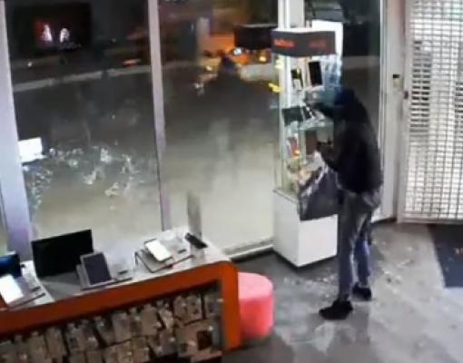 Ограбление магазина в Бельцах видеозапись