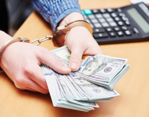 Арестован, деньги, наручники, коррупция