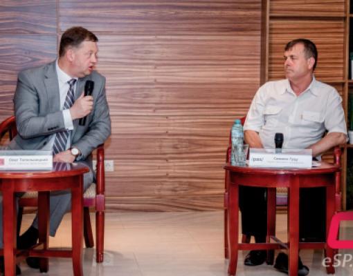 Олег Топольницкий и Симиону Гуцу