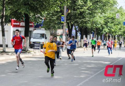 Спортивный праздник в Бельцах, эстафета