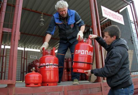 Заправка газовых баллонов на АЗС
