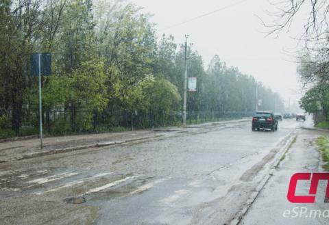 Мокрый снег в Бельцах