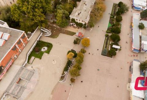 Центр Бельц с высоты
