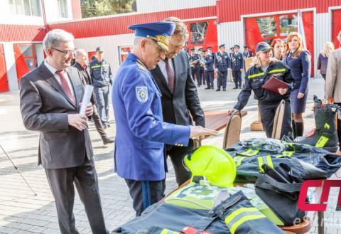 Чехия подарила бельцким спасателям новое оборудование и экипировку