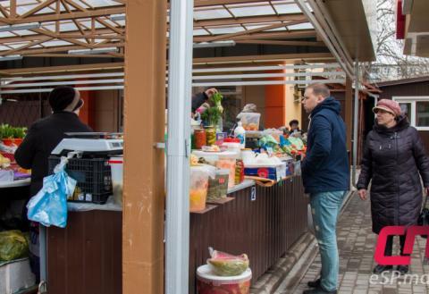 рынок на 8 квартале в Бельцах