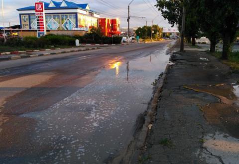 дорога в воде