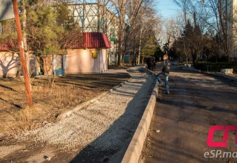 Ремонт дороги на ул. Стрыйская в Бельцах