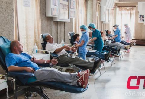сдача крови, доноры, День донора в Бельцах