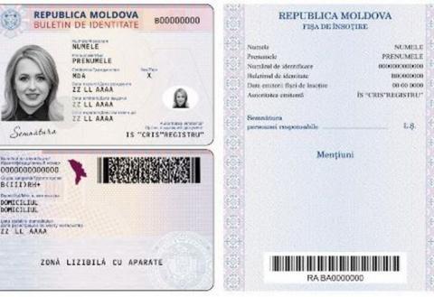 Образец удостоверения личности гражданина Республики Молдова