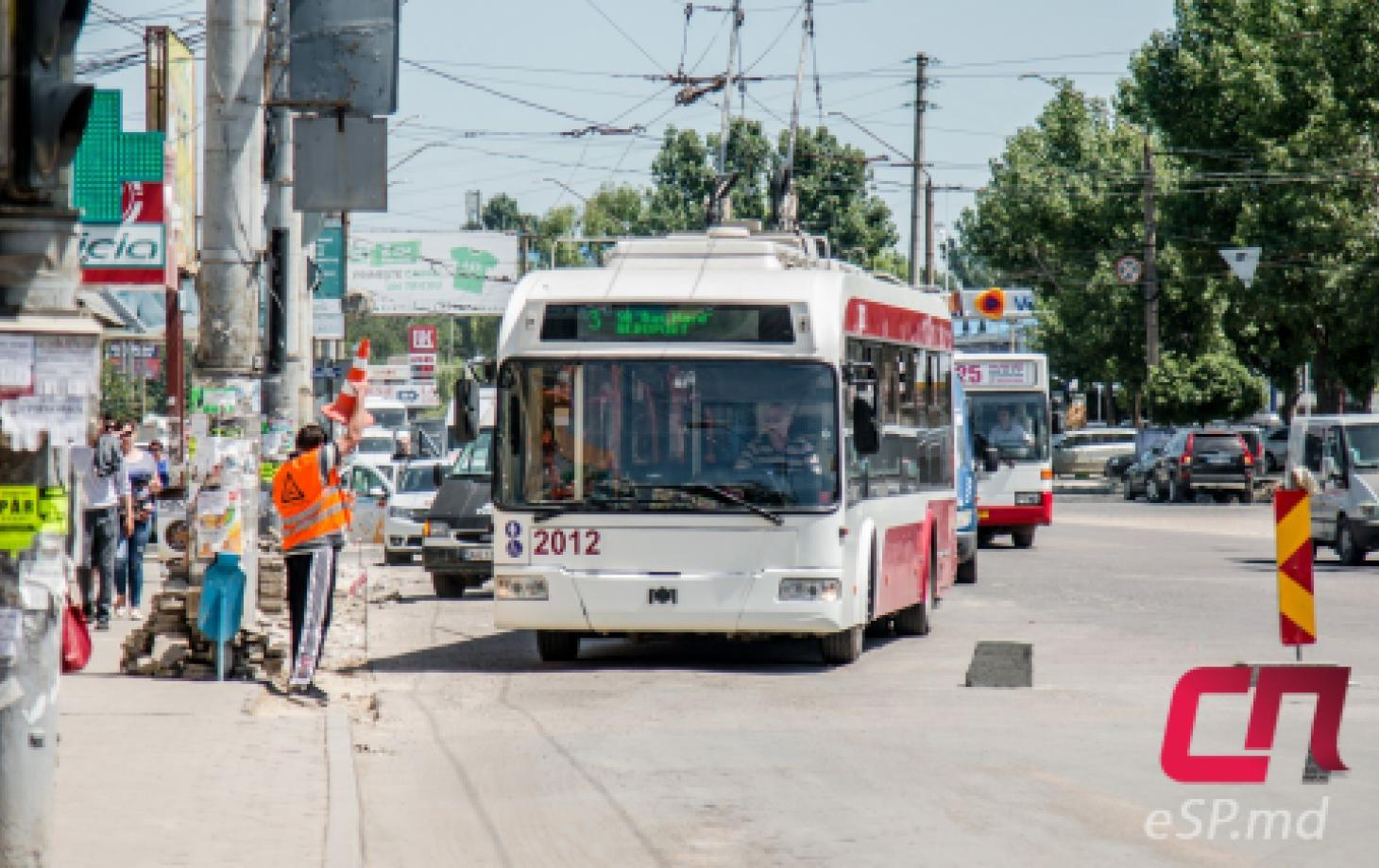 Троллейбус №3 в Бельцах