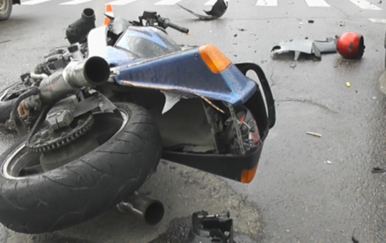 Мотоцикл попал в ДТП