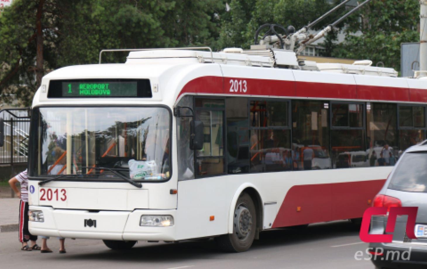 Троллейбус №1 в Бельцах