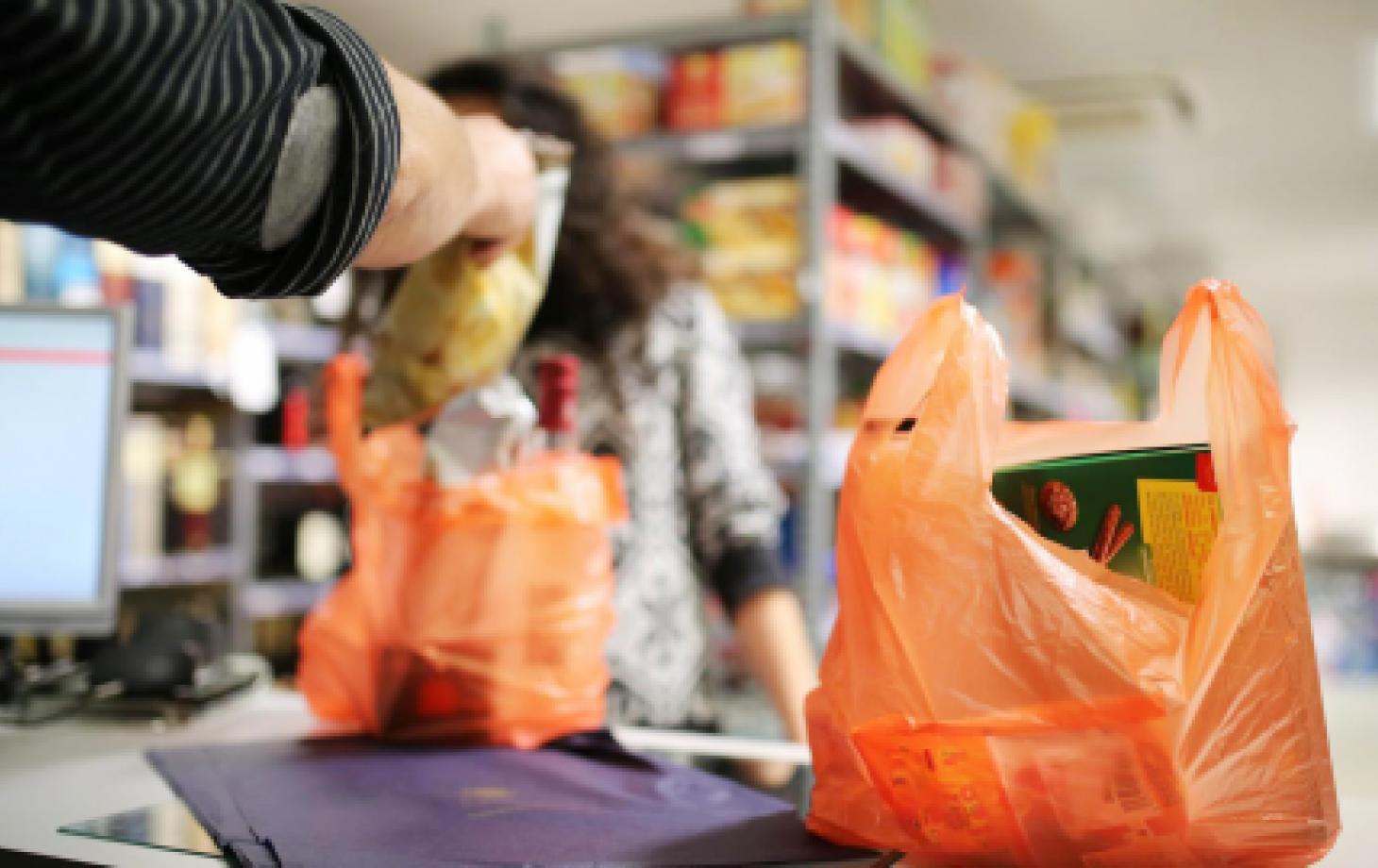 покупки, пластиковый пакет