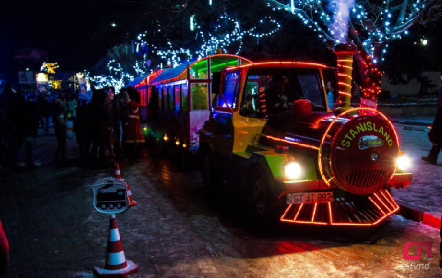 Новогодний городок в Бельцах