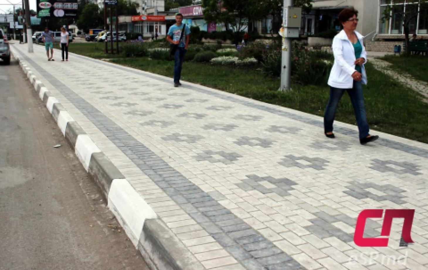 Ул. Штефана чел Маре - тротуарная плитка